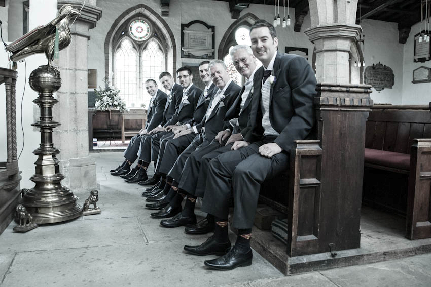 Groom and his mates getting snapped in a Group Photo